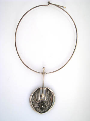 1970's Neckpeice, Sterling Silver Muhling Collection