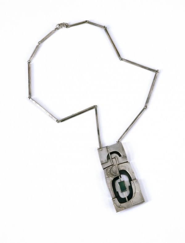 1978 Jade Pendant, Sterling Silver and Jade, Griffith University Collection, photo courtesy of Griffith University