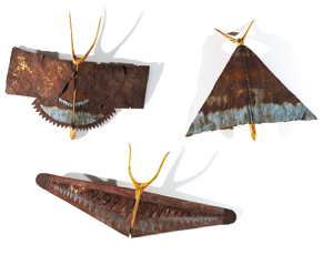 1989-Collection-of-Moths-Recycled-tin,-wood-Gold-Coast-Gallery-collection,-Photo-courtesy-of-Gold-Coast-Gallery-