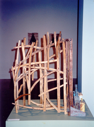 1990-Landscape-with-Still-life-Timber,-recycled-metal-Private-collection-
