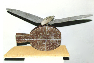 1990-Moth-Still-Life-Wood,-paper-mache,-galvanised-iron,-Muhling-collection-