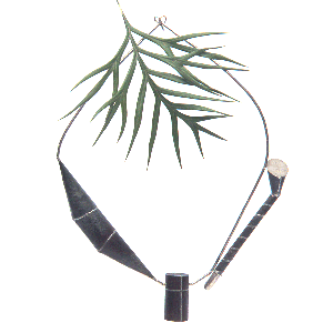 1990 Three Beads No 1 Galvanised iron, sterling silver Toowoomba Regional Gallery collection png