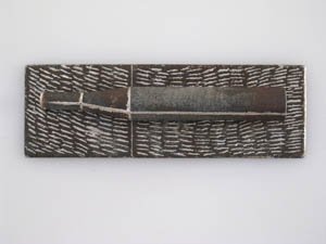 1991 Brooch Galvanised iron, stainless steel Muhling collection