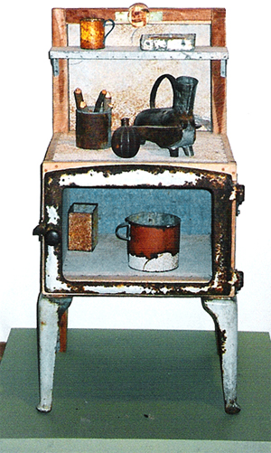 1991-Curagee-Cooker-Recycled-tin,-wood,-Private-Collection