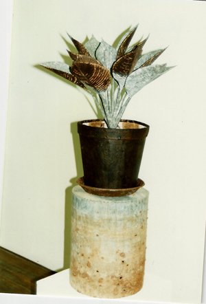 1993-Shimmer-Pot-plant-Recyled-Tin,-Muhling-Collection-