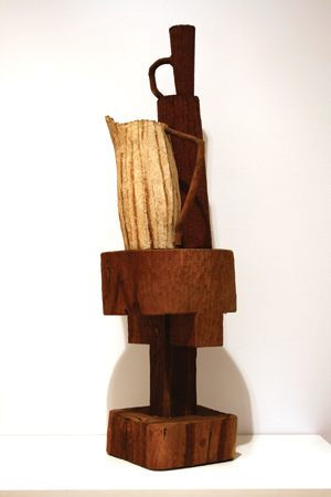 1994-Pitcher-Carved-timber,-paper-mache,-paint-QUT-Collection,-Photo-courtesy-of-QUT